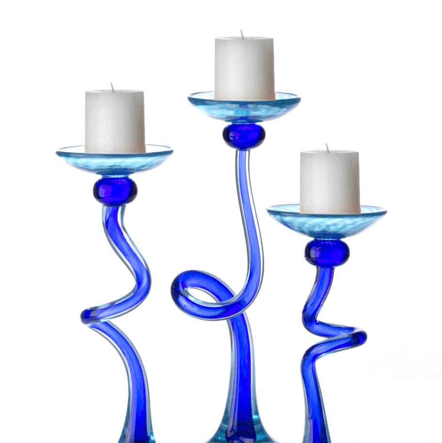 HL Curved Candleholder - Hudson Glass