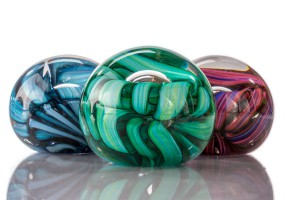Ribbon Paperweights - Hudson Glass