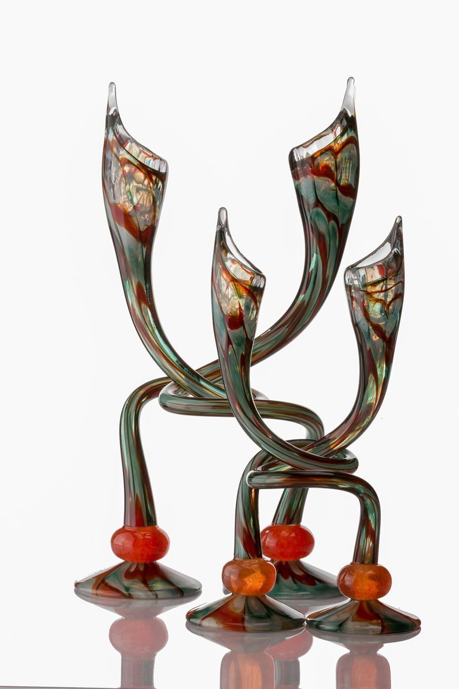 Christmas Candlesticks - Hudson Glass
